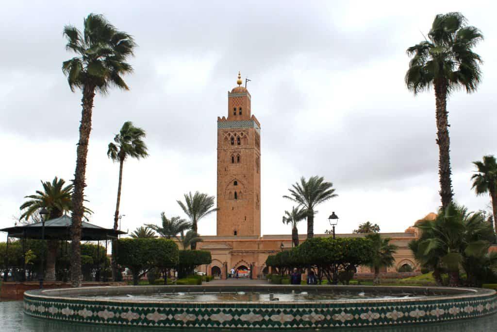 Célèbre mosquée située près de la place Jemaa el-Fna