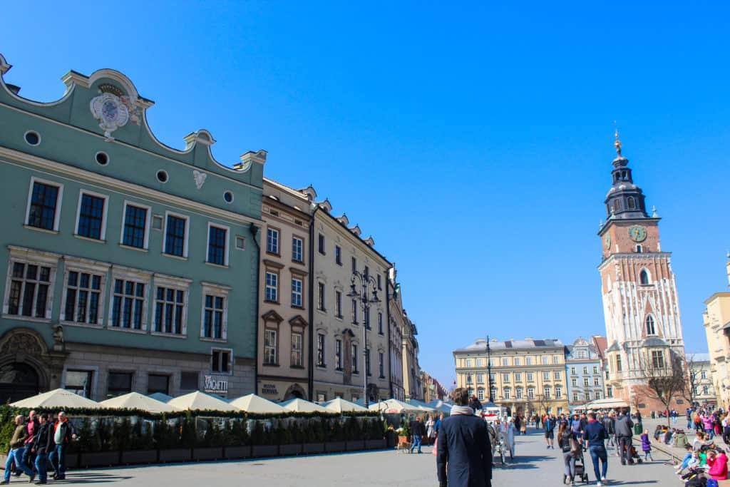 La place du marché de Cracovie
