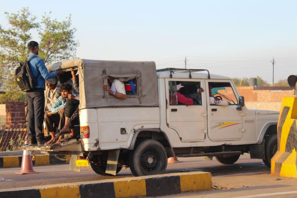 Sur la route en Inde