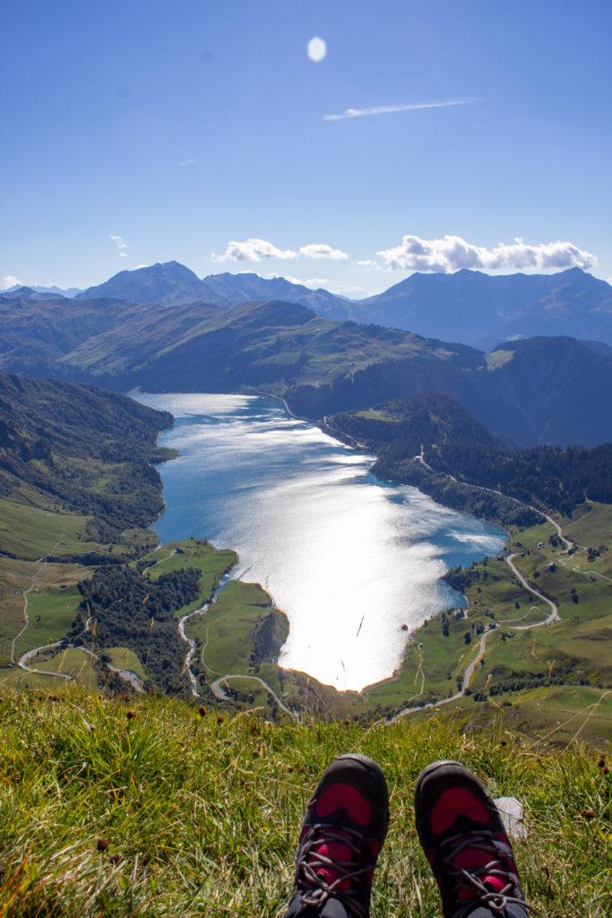randonnée rocher du vent lac de roselend